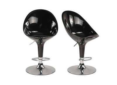 Black Modern Bar/Kitchen Stool OEUF (set of 2)
