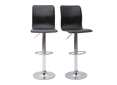 Black Modern Bar/Kitchen Stool SURF ALTO (set of 2)