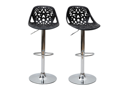 Black Modern Bar Stool (set of 2) BAROCCA