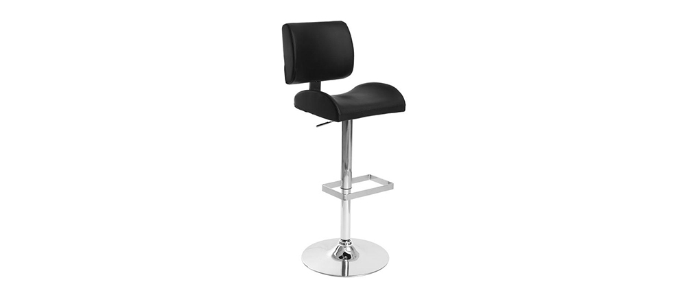 Black Modern Bar Stool CERES