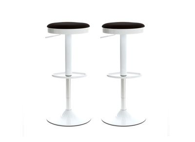 Black Modern Bar Stool JANUS (set of 2)