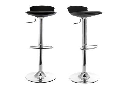 Black Modern Bar Stool NOVA (Set of 2)