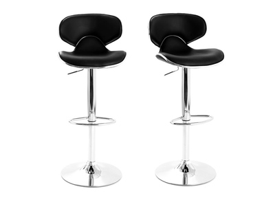 Black Modern Bar Stool PEGASE (set of 2)