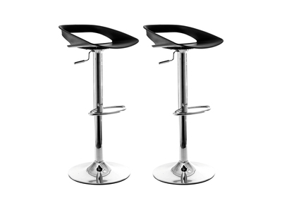 Black Modern Bar Stool PHENIX (set of 2)