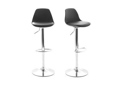 Black Modern Bar Stool STEEVY (set of 2)