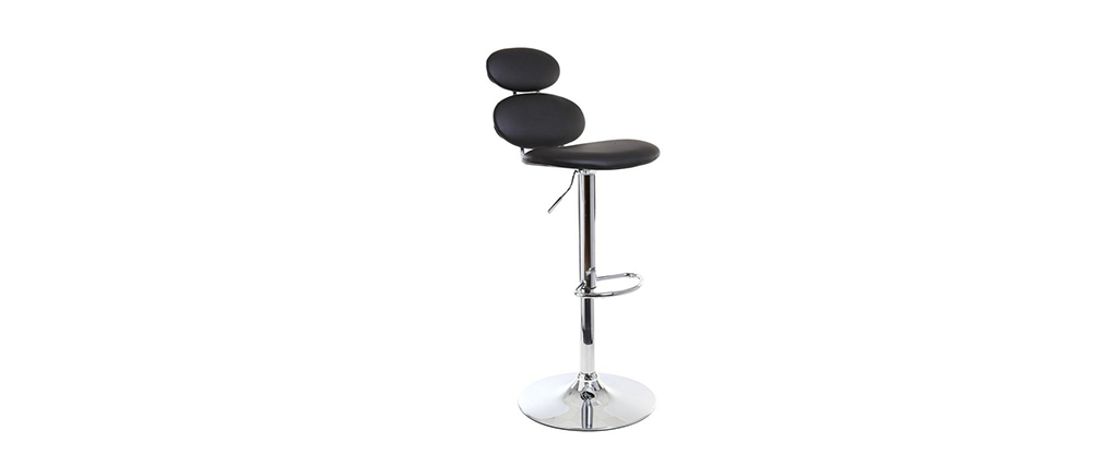 Black Modern Bar Stool STONE