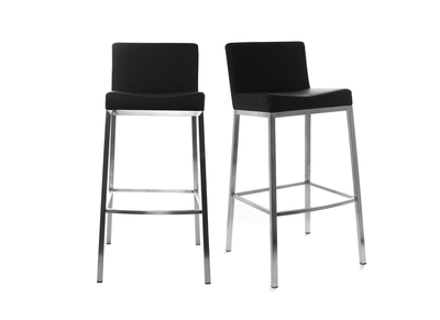 Black Modern Bar Stools EPSILON (set of 2)