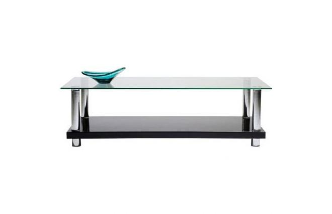 Black Modern Coffee Table New Telma With Tempered Glass