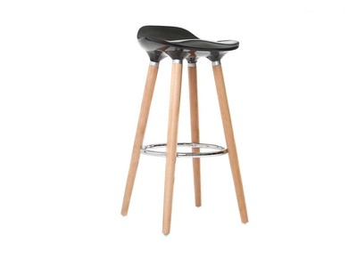 Black Modern Scandinavian Bar Stool GILDA