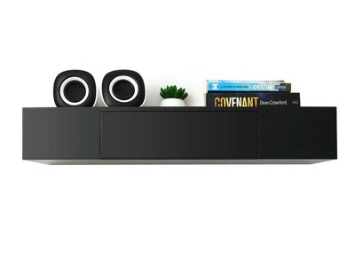 Black Modern Shelf with Drawer YZA