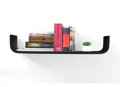 Black Modern Wall Shelf MAYA