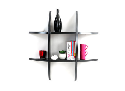 Black Modern Wall Shelves SHARK