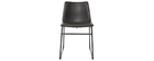 Black Vintage Chair PU NEW ROCK