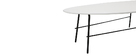 BLOOM designer white metal coffee table 131 cm