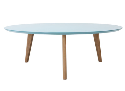 Blue Modern Round Coffee Table 100cm EKKA