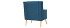 BRIGHTON designer armchair in teal and light wood