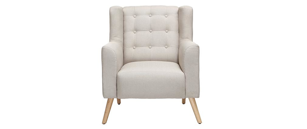 BRIGHTON Scandinavian designer armchair in natural and light wood