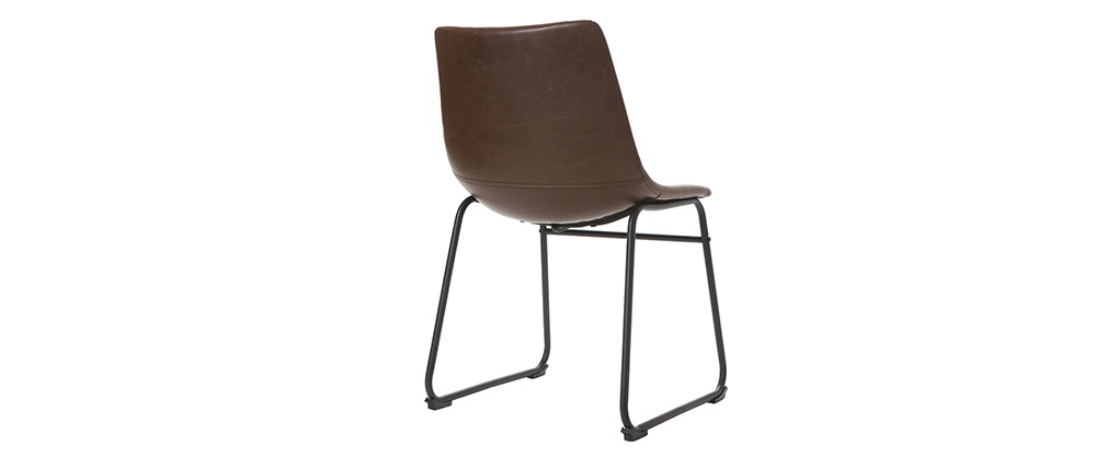 Brown Vintage Chair PU NEW ROCK