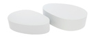 CAMILLE Matte White Modern Coffee Table (set of 2)