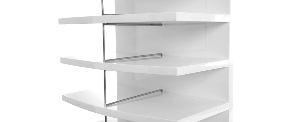 CARTONNIER White Modern Storage Column