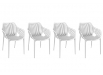 Chairs design white set of 4 LUCY XL