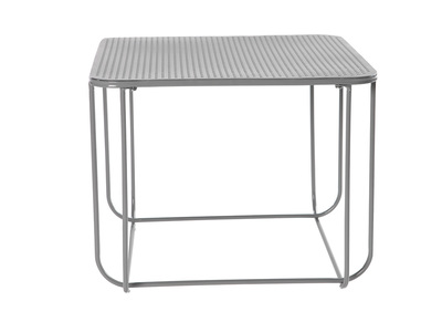 Charcoal Grey Metal Modern Coffee Table FILAR