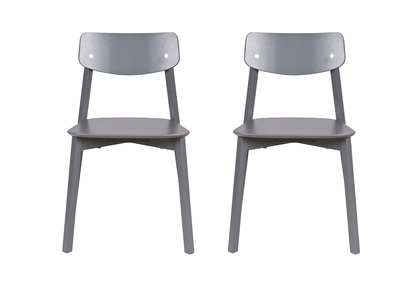 Charcoal Grey Wood Modern Chair JESS (set of 2)