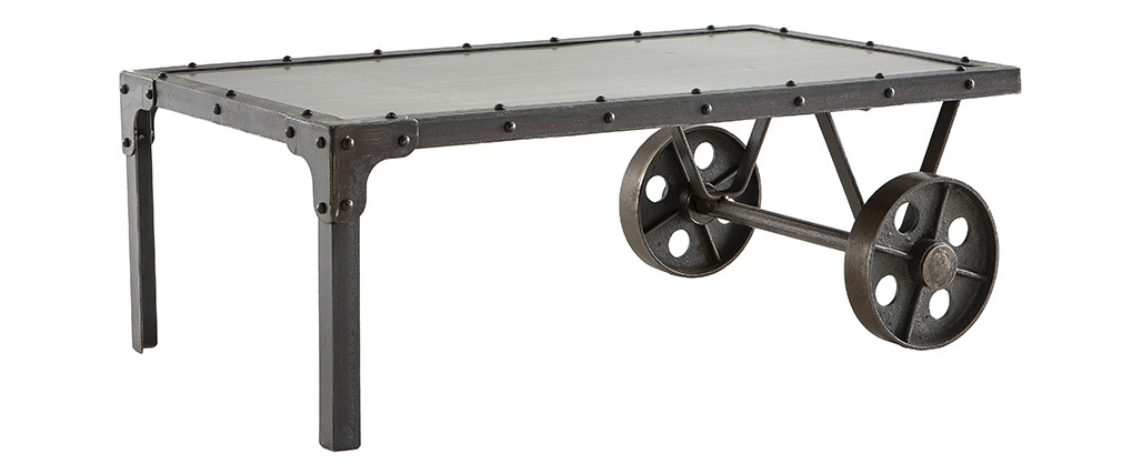 CHARIOT Industrial Metal Coffee Table