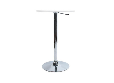 CHARLIE White Height Adjustable Bar Table/Kitchen Table