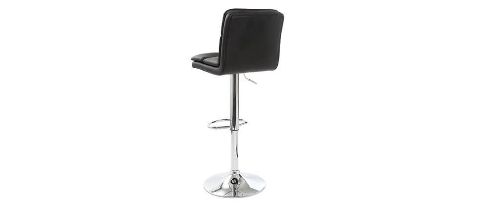 CLARK set of 2 black PU designer bar stools