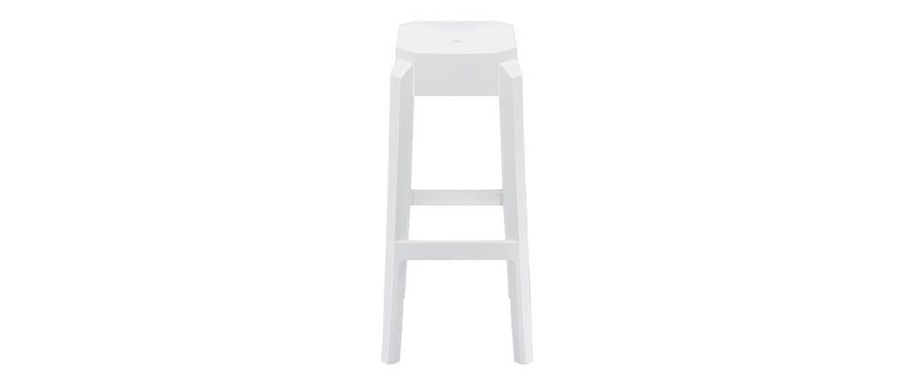 CLEAR White Modern Bar Stool 75cm (set of 2)