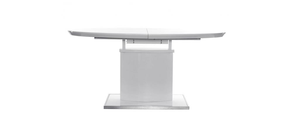 CLEONES Extending Modern White Dining Table L160-200
