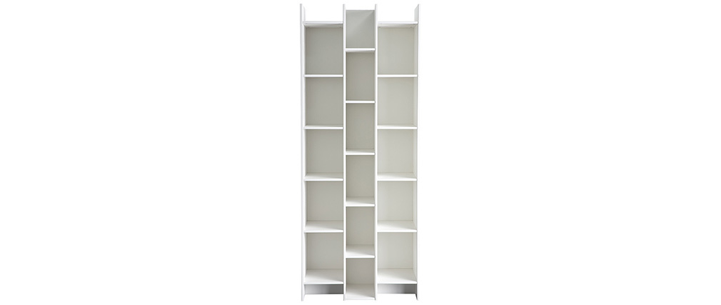 CLIMB designer bookcase in white pine