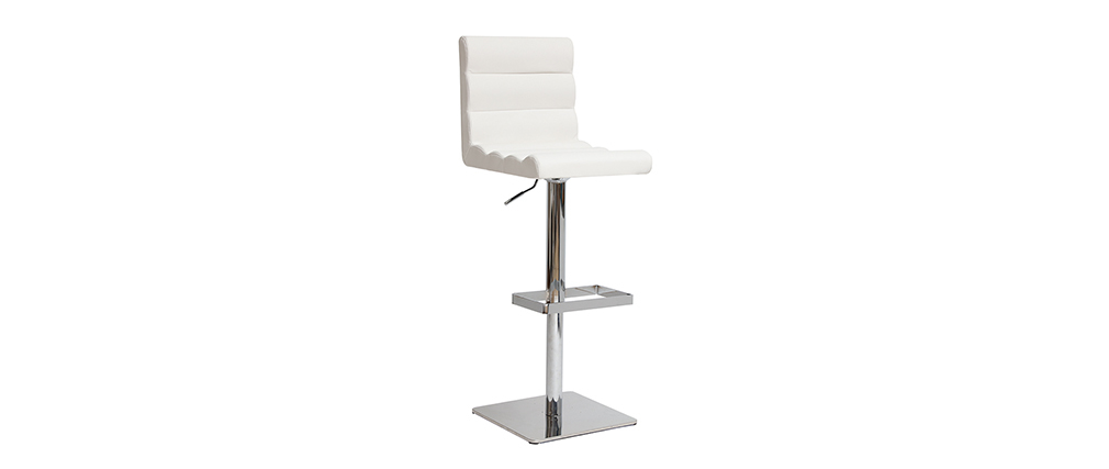 COLOMBUS white designer bar stool