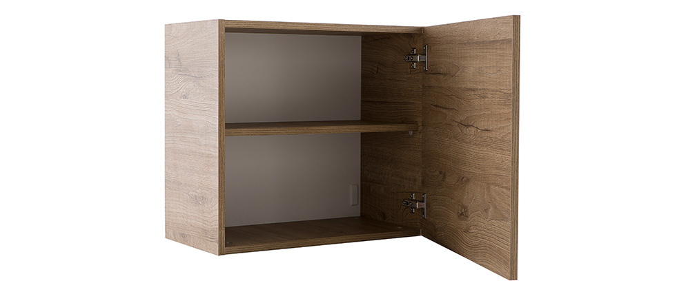 COLORED Modern Honey Wood Square Wall Unit