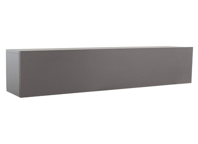 COLORED V2Modern Matte Charcoal Grey Horizontal TV Wall Unit