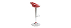 COMET Wine Red Modern Bar/Kitchen Stool (set of 2)