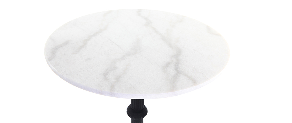 CONTY tall, round marble and metal table