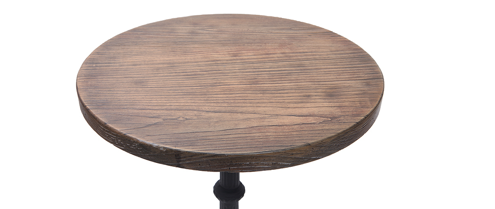 CONTY tall, round wooden and metal table