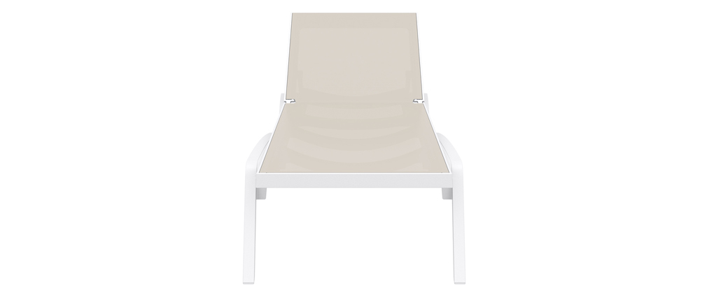 CORAIL Taupe Grey/White Lounger