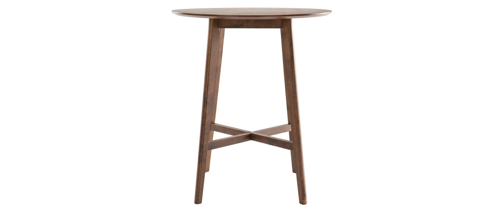 DEMORY designer round walnut bar table