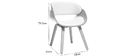 Designer white and light wooden chair BENT