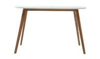 Desk design 120 cm wood and white SWIFT