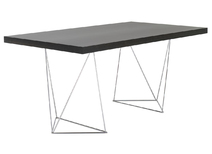 Desk design color wenge and chrome legs LEPPIEN
