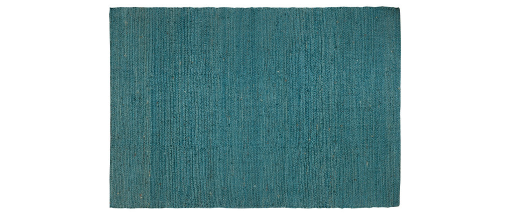 Duck egg blue jute GUNNY carpet 200 x 300cm