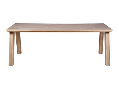 EDMUND Dining Table Natural Plain Oak 220x95cm