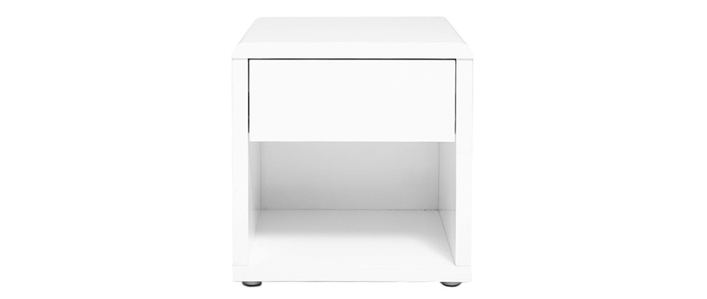 ELIO Glossy White Modern Bedside Table