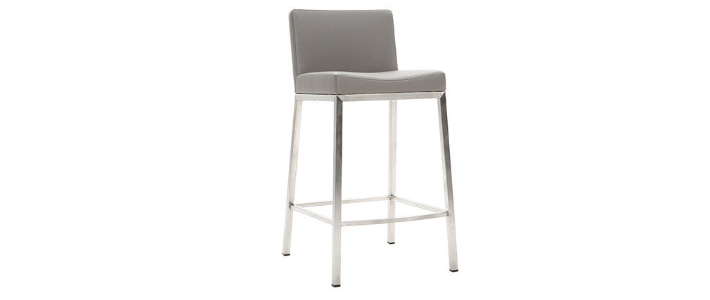 EPSILON set of 2 designer grey stools 66cm