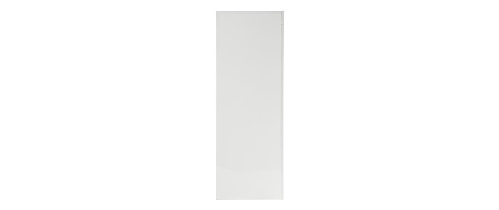 ERIA Modern Square White Lacquer 4 Door Sideboard