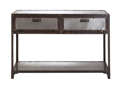 FACTORY Industrial Metal Console Table